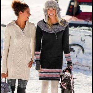 Athleta Dresses - Athleta | Fair Isle Navy Nordic Sweater Dress